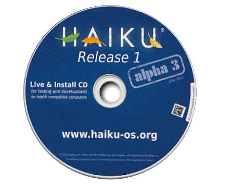 Haiku Release 1 Alpha 3 disponible… 13 meses después